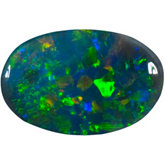 Oval Genuine Black Opal
