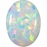Oval Imitation White Opal