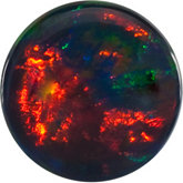 Round Lab Created Black Opal