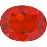 Genuine Opal - Oval Faceted Mexican Fire; AAA Quality; CHERRY