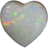 Heart Genuine White Opal