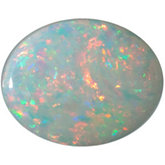 Oval Genuine White Opal