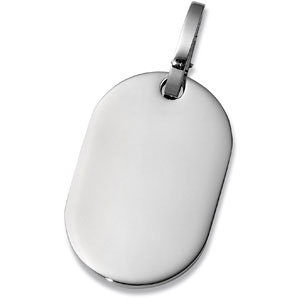 Stainless Steel Oval Dog Tag with G Lock
