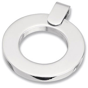 Amalfi™ Stainless Steel Circle Pendant