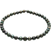 Tahitian Cultured Pearl Strands-Baroque Graduated Grey