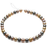 Round/Near Round Pastel Multicolor Graduated Cultured Pearl Strands