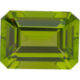 Emerald/Octagon Genuine Peridot