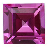 Square Imitation Pink Tourmaline