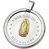 Joyas Alternativas™ Stainless Steel Guadalupe Medal
