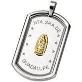 Joyas Alternativas™ Stainless Steel Guadalupe Dog Tag Pendant