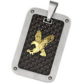 Joyas Alternativas™ Stainless Steel Eagle Pendant with Carbon Fiber