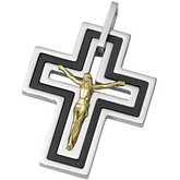 Joyas Alternativas™ Stainless Steel Crucifix Pendant