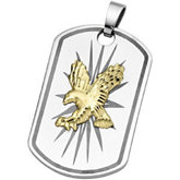 Joyas Alternativas™ Dog Tag Eagle Pendant