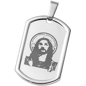 Joyas Alternativas™ Reversible Lord's Prayer Dog Tag Pendant