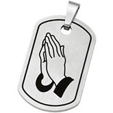 Joyas Alternativas™ Reversible Serenity Prayer Dog Tag Pendant with Enamel