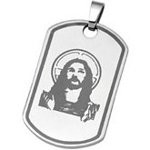 Joyas Alternativas™ Stainless Steel Christ Dog Tag Pendant