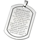 Joyas Alternativas™ Stainless Steel Lord's Prayer Dog Tag Pendant
