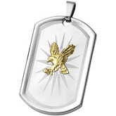 Joyas Alternativas™ Stainless Steel Eagle Dog Tag Pendant