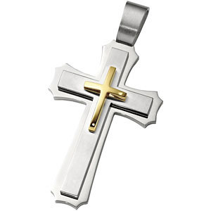 Joyas Alternativas™ Stainless Steel Cross Pendant