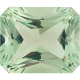 Emerald/Octagon Genuine Green Quartz