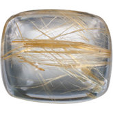 Antique Cushion Genuine Rutilated Quartz