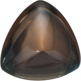 Trillion Genuine Cabochon Smoky Quartz