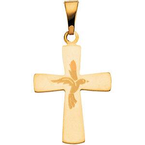 Cross with Dove Pendant