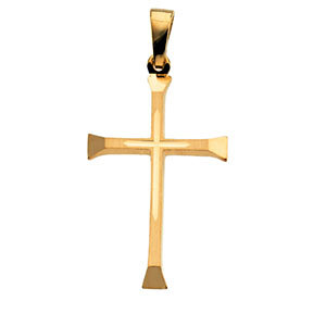 14K 24.5x16mm Cross Pendant