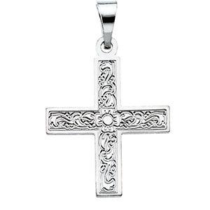 Greek Cross Pendant with Ornate Design