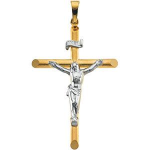Two Tone Crucifix Pendant