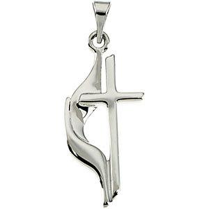 Methodist Cross Pendant or Necklace