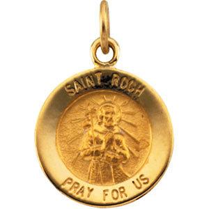 Round St. Roch Medal