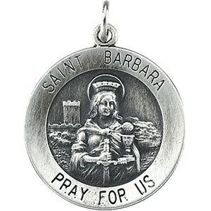 Round St. Barbara Medal