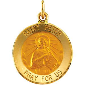 Round St. Peter the Apostle Medal