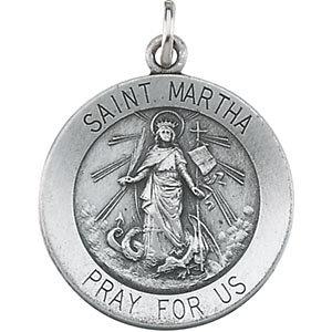 Round St. Martha Medal