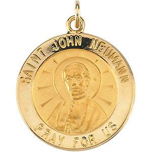 Round St. John Neumann Medal