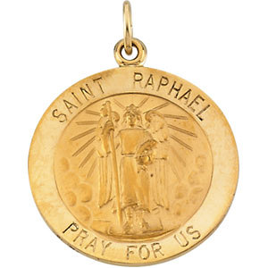 Round St. Raphael Medal