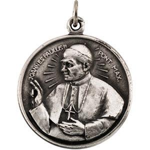 Round Pope John Paul II Medal