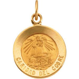 Round Caridad del Cobre Medal