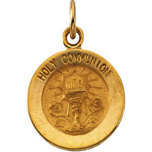 Round Holy Communion Medal