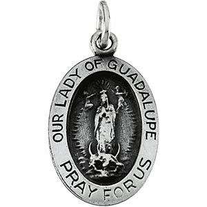 Oval Our Lady of Guadalupe Medal