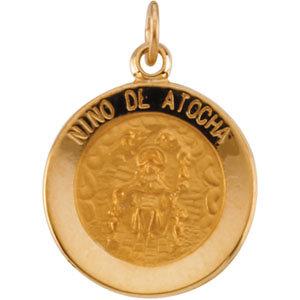 Round Nino de Atocha Medal