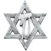 Star of David Lapel Pin with Chai