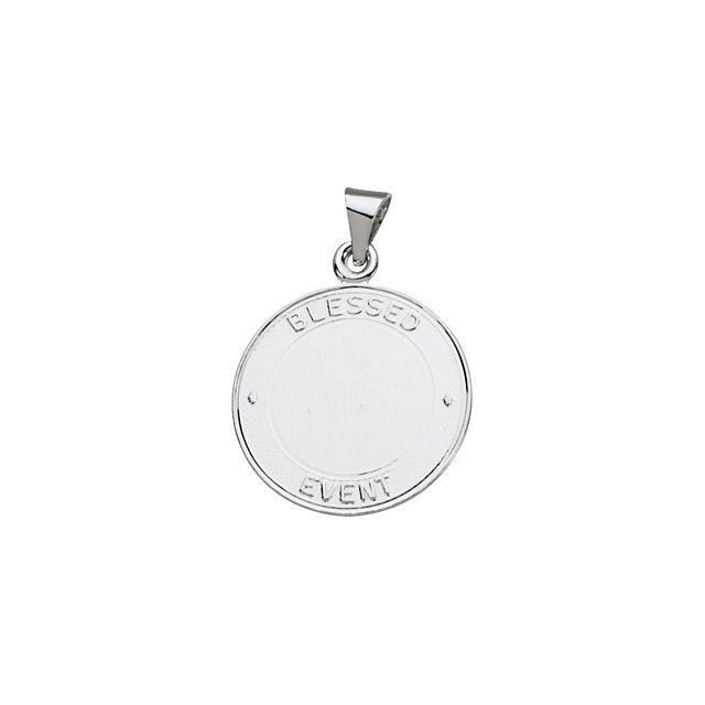 Sterling Silver 19mm Blessed Event Medal