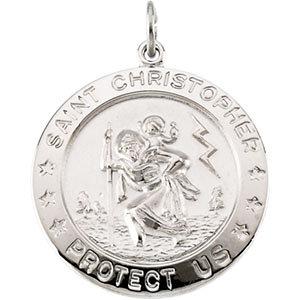 Round St. Christopher Medal