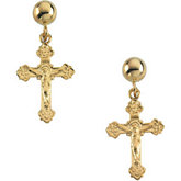 Crucifix Dangle Earring