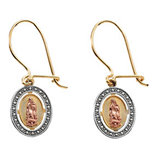 Tri-color Our Lady of Guadalupe Earring