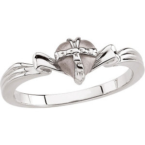 Sterling Silver The Gift Wrapped Heart® Ring Size 4 with Packaging