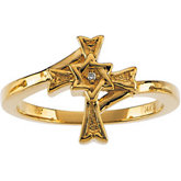 Judeo Christian Cross Ring Mounting