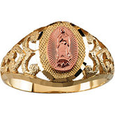 Two Tone Our Lady of Guadalupe Ring